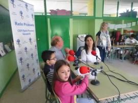 Julio y Sole en un momento de la entrevista desde Radio Picassete.